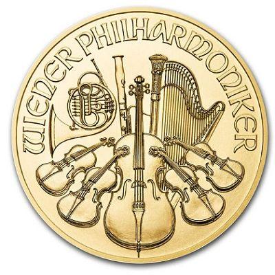 Wiedeńscy Filharmonicy 1/4 uncji złota