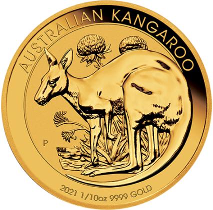 Australijski Kangur 1/10 uncji złota