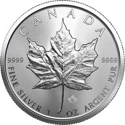 Kanadyjski Liść Klonowy 1 uncja srebra