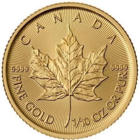 Kanadyjski Liść Klonowy 1/10 uncji złota