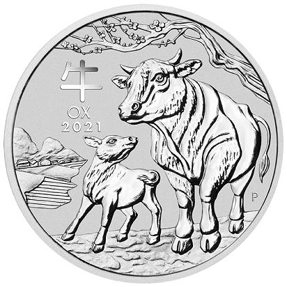 Rok Wołu 1 uncja srebra