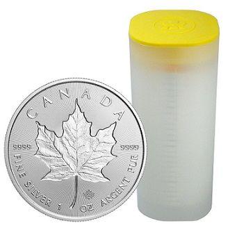 25 x Kanadyjski Liść Klonowy 1 uncja srebra