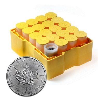 500 x Kanadyjski Liść Klonowy 1 uncja srebra