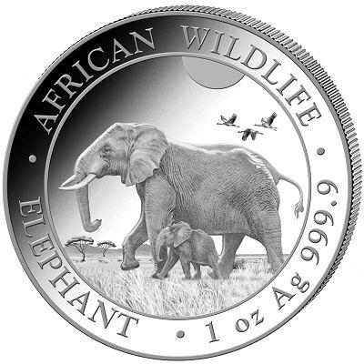 Słoń Somalijski 1 uncja srebra
